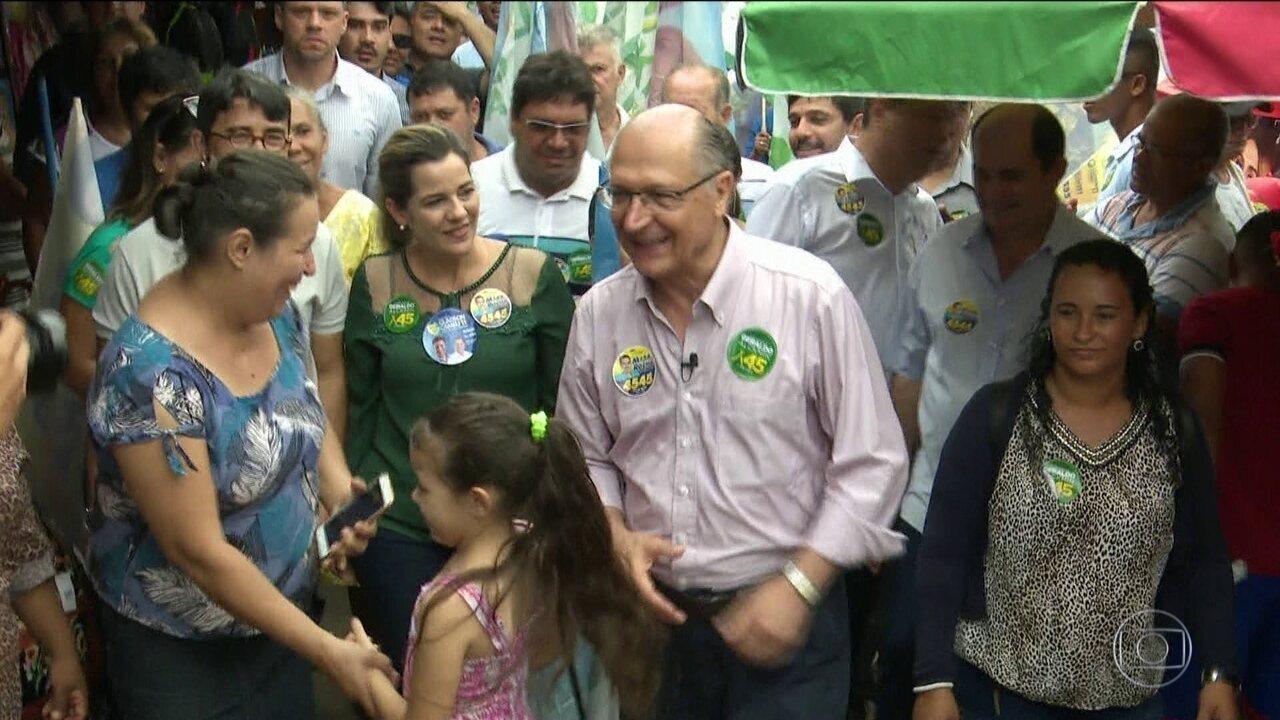 Geraldo Alckmin, candidato do PSDB à Presidência, faz campanha em Rio Branco
