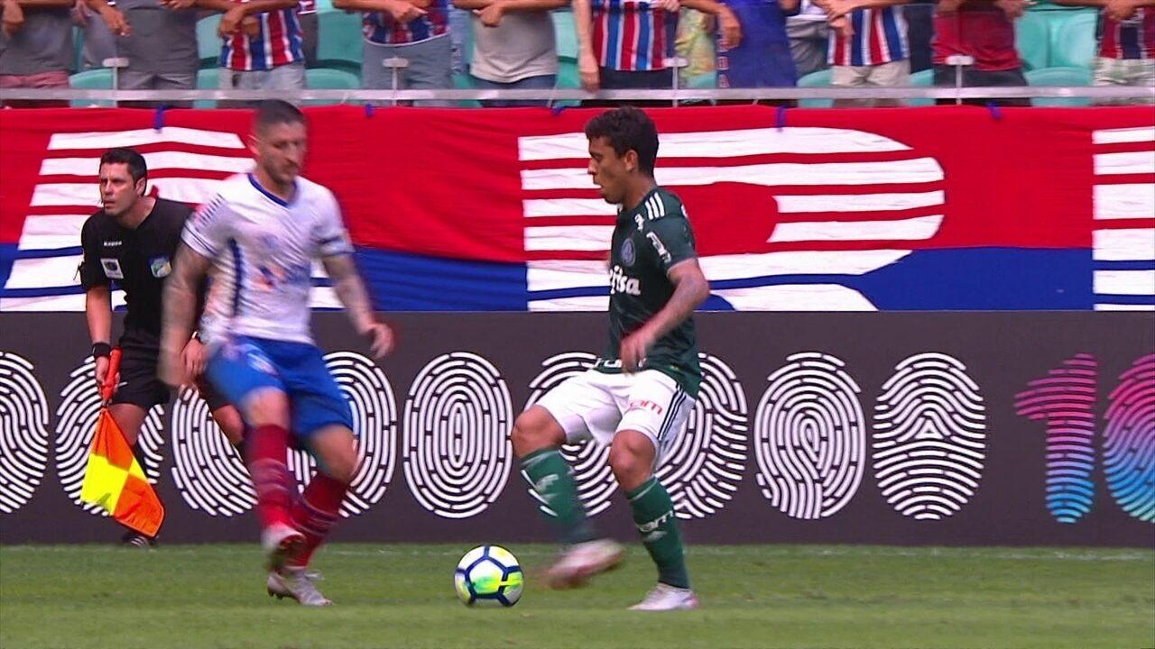 Melhores momentos: Bahia 1 x 1 Palmeiras pela 25ª rodada do Campeonato Brasileiro