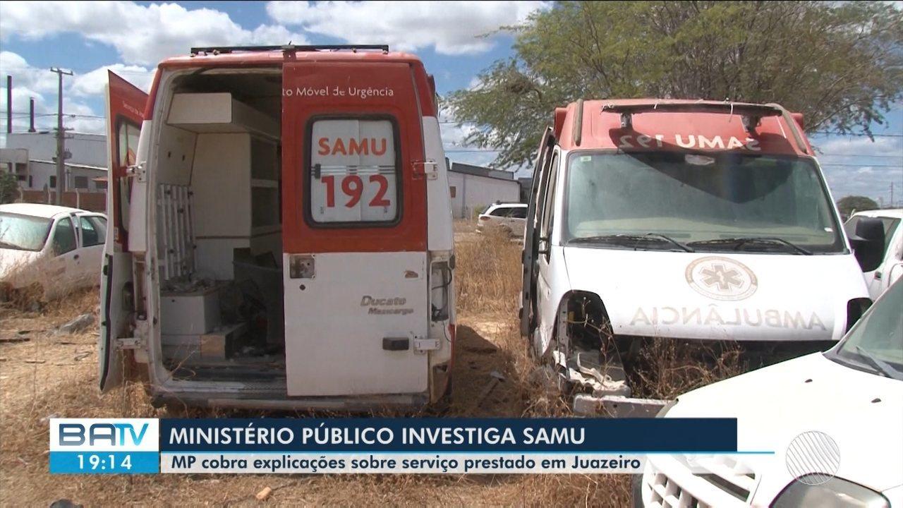Ministério Público investiga prestação de serviço do Samu em Juazeiro