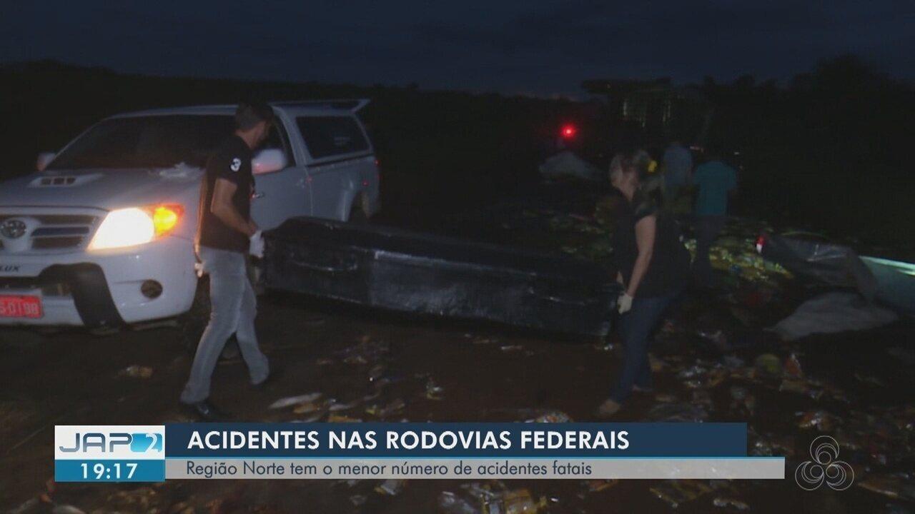Precariedade de pistas pode ter reduzido acidentes nas BRs 156 e 210 no Amapá