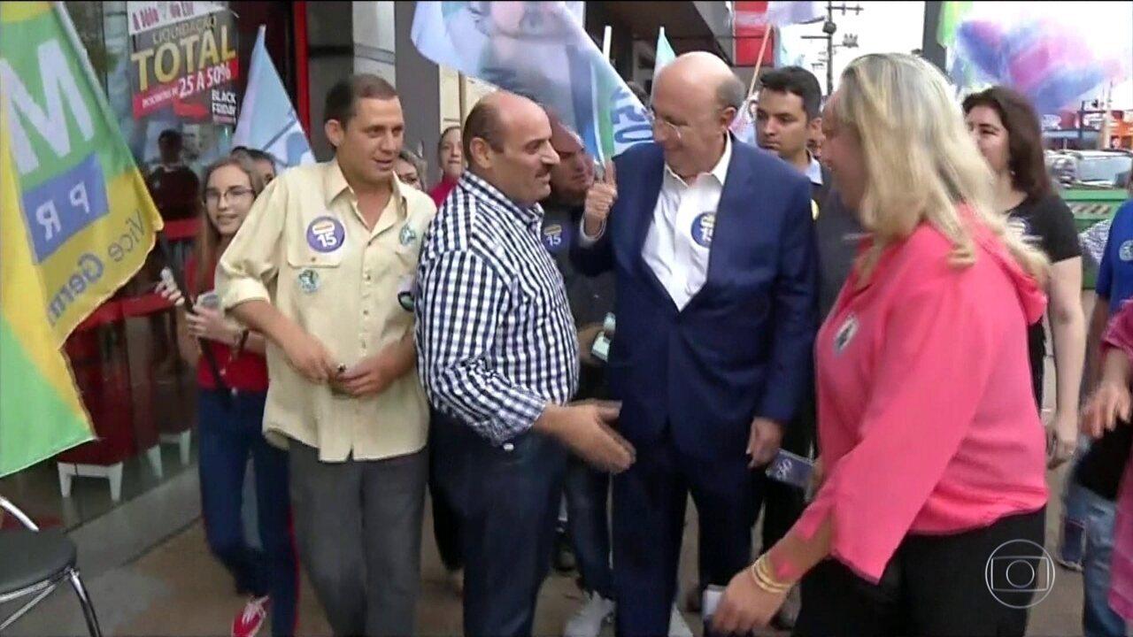 Candidato do MDB, Henrique Meirelles, faz campanha em Mato Grosso do Sul