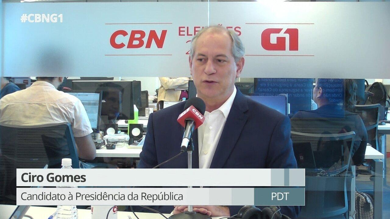 Ciro Gomes fala sobre crescimento de Haddad nas pesquisas