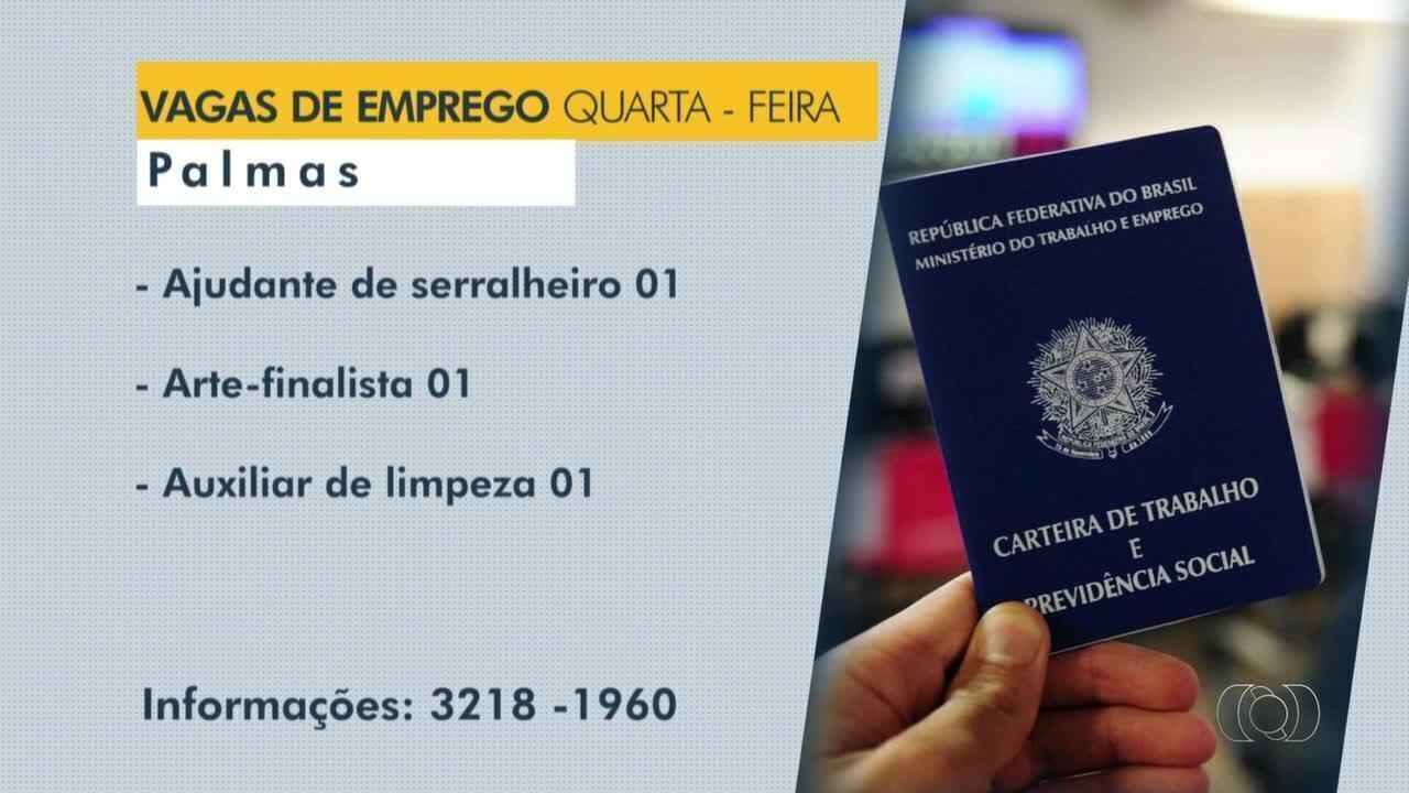 Confira as vagas de emprego disponíveis em Palmas, Paraíso e Porto Nacional