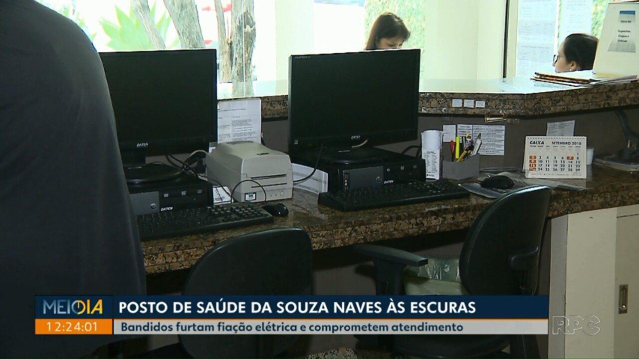 Bandidos furtam fiação elétrica de posto de saúde do centro de Londrina