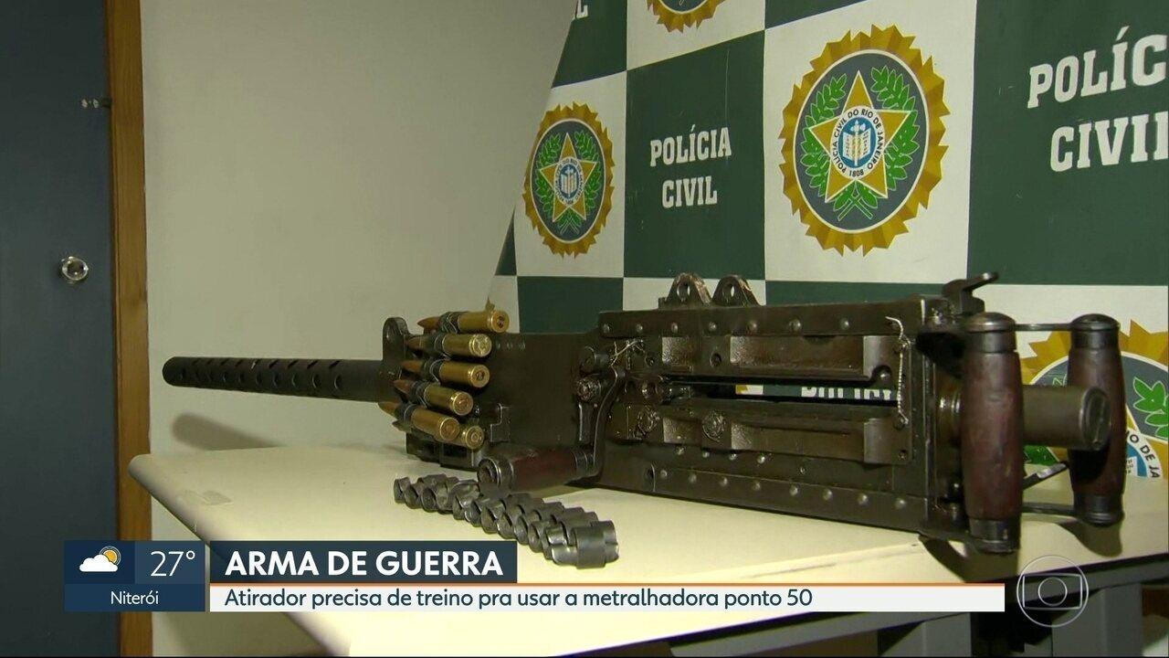 Polícia Civil apreende maior metralhadora com alto poder destruição