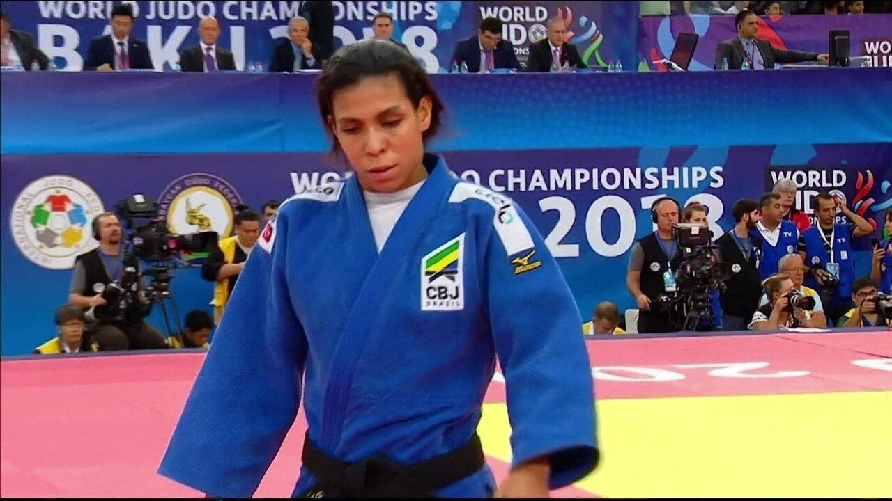 Reveja a luta em que Jéssica Pereira vence israelense e garante disputa pelo bronze