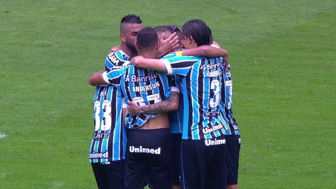 Os gols de Grêmio 3 x 2 Ceará pela 26ª rodada do Brasileirão 2018