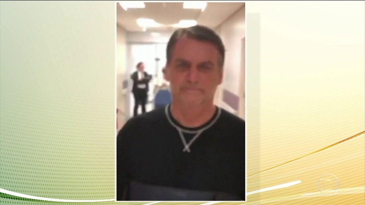 Bolsonaro continua internado e recebe dieta leve, segundo boletim médico