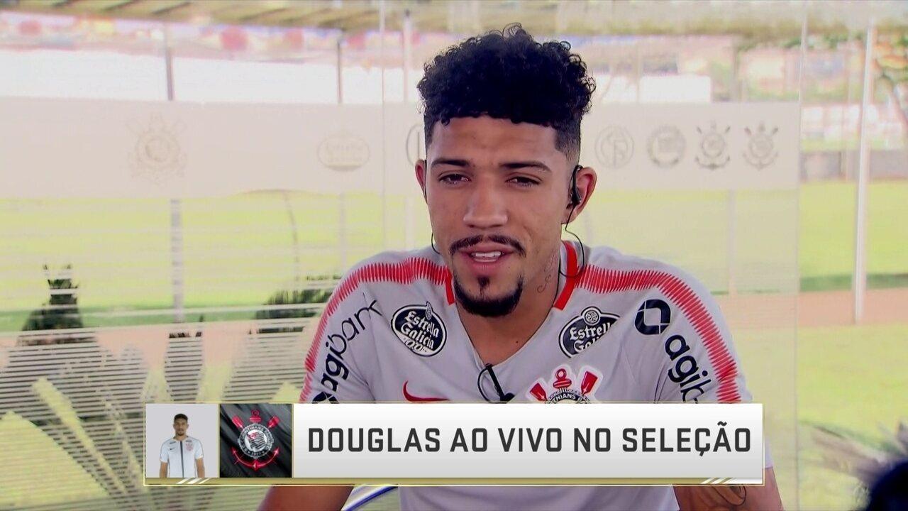 Autor do gol de empate contra Inter, Douglas fala sobre semana decisiva no Corinthians