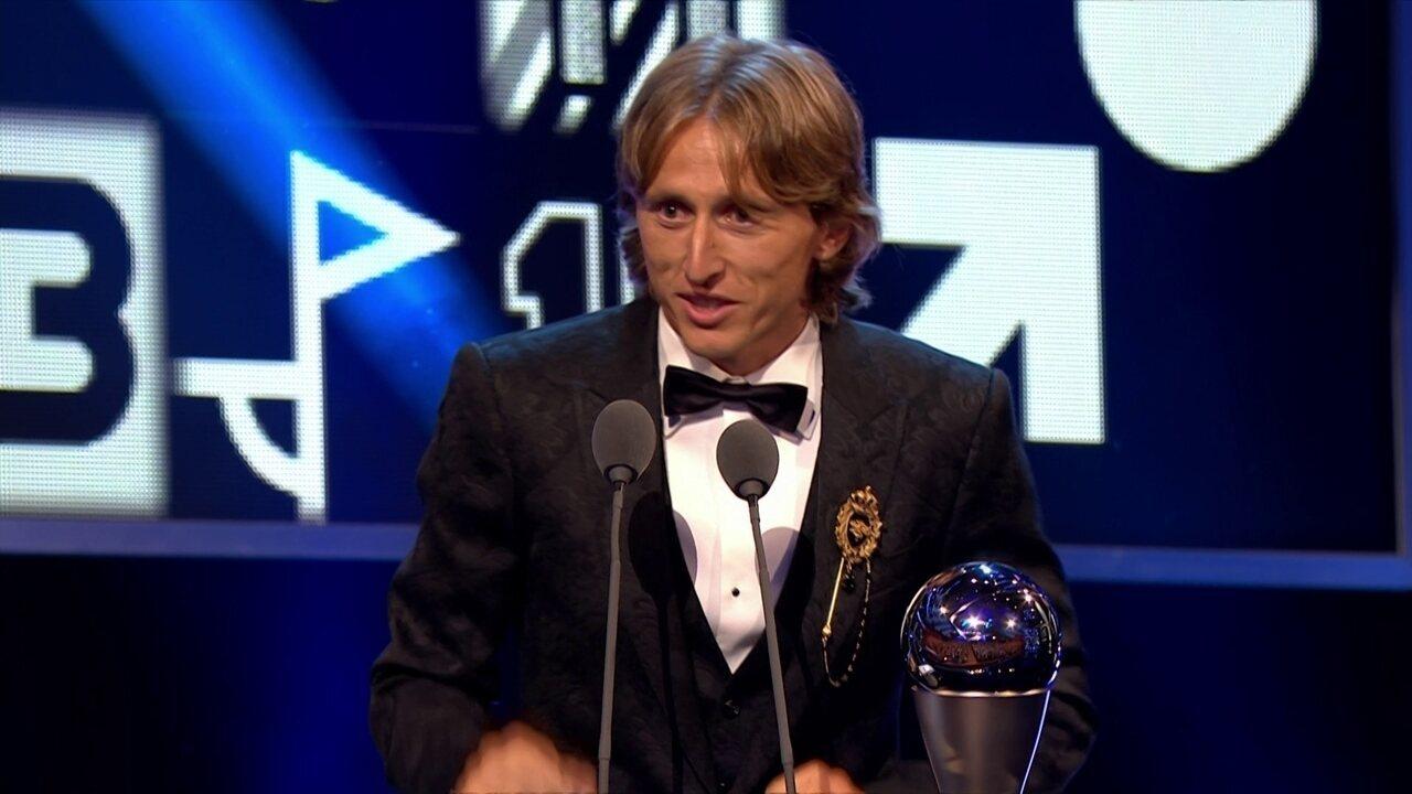 Luka Modric desbanca Cristiano Ronaldo e é o melhor jogador do mundo no The Best da Fifa