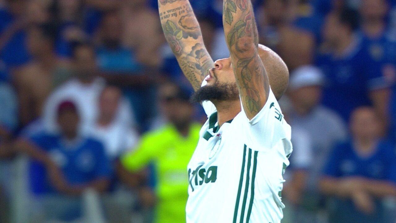 Gol do Palmeiras! Dudu levanta na área e Felipe Melo completa de cabeça, aos 4 do 2º