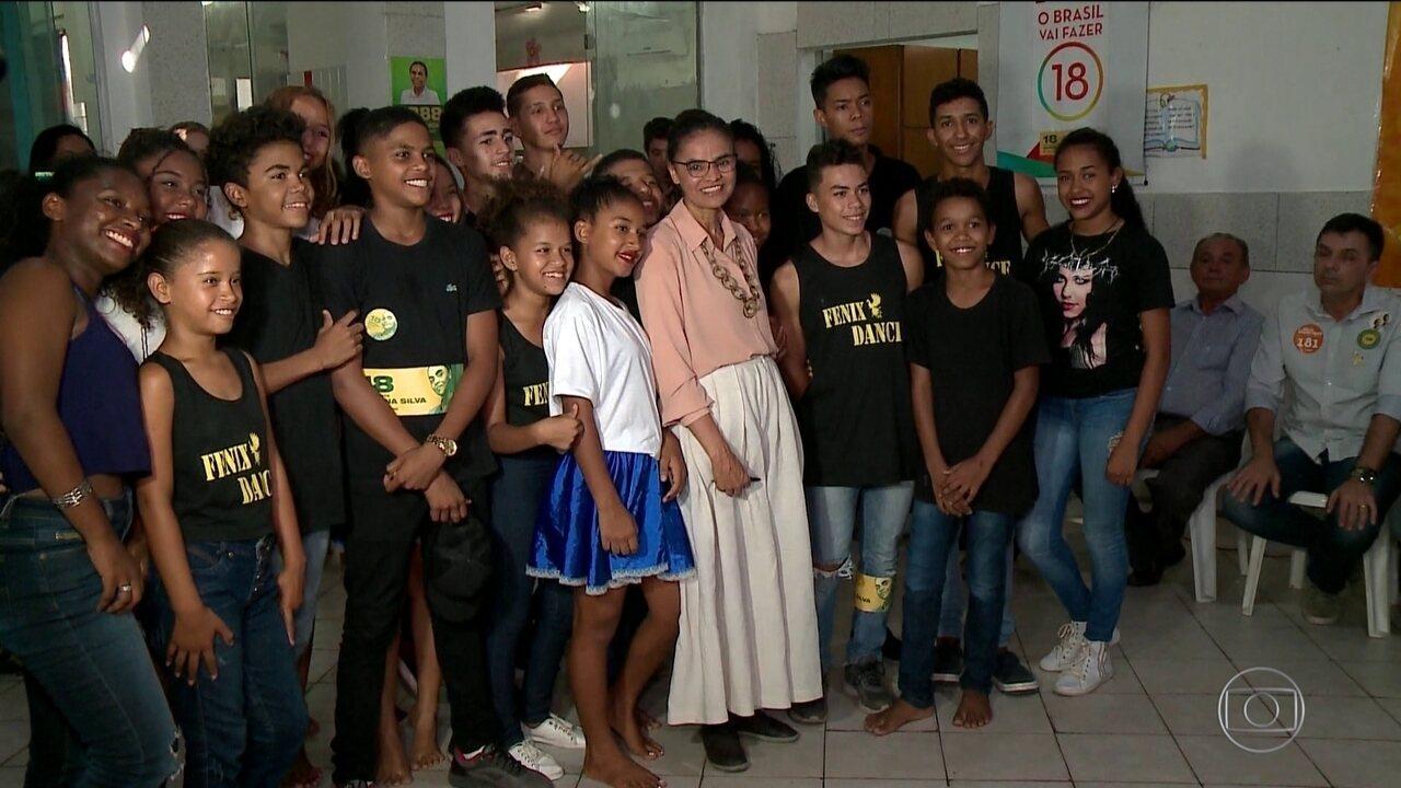Candidata da Rede, Marina Silva, faz campanha no Piauí