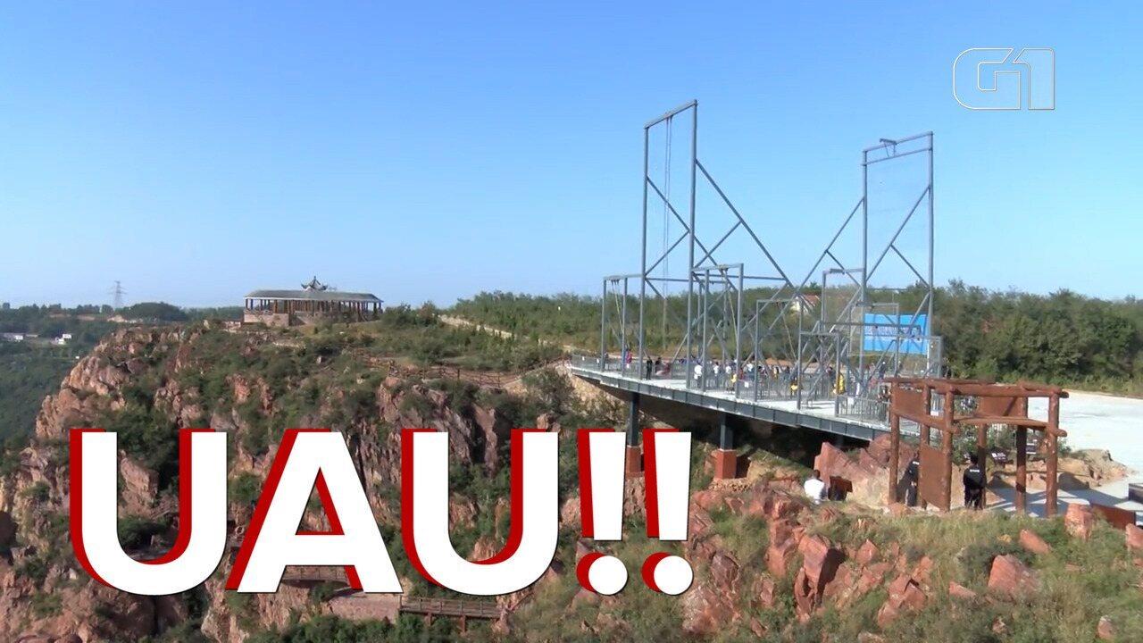 Veja o balanço gigante com mais de 300 metros de altura