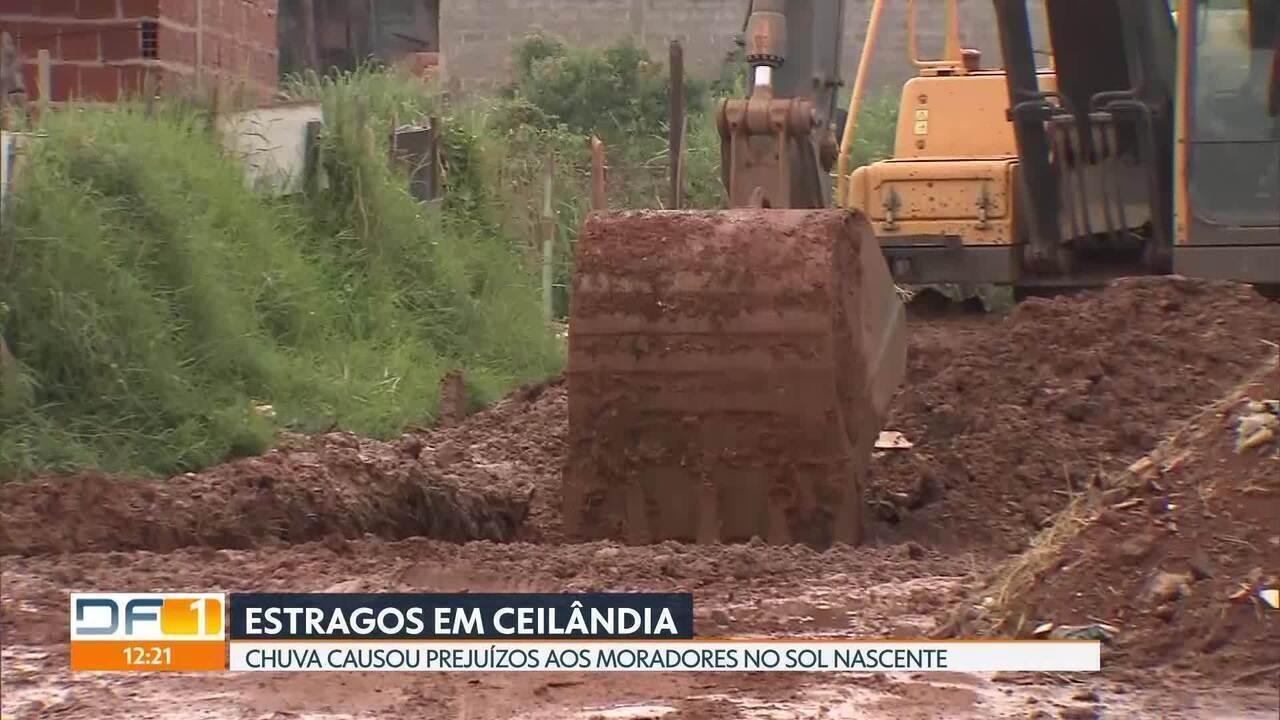 Chuva causa estragos em Ceilândia