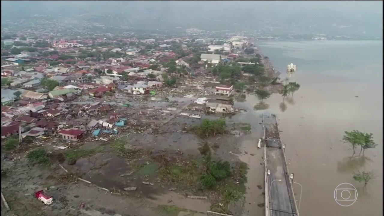 Sobe para 844 o número de mortos em terremoto e tsunami, na Indonésia