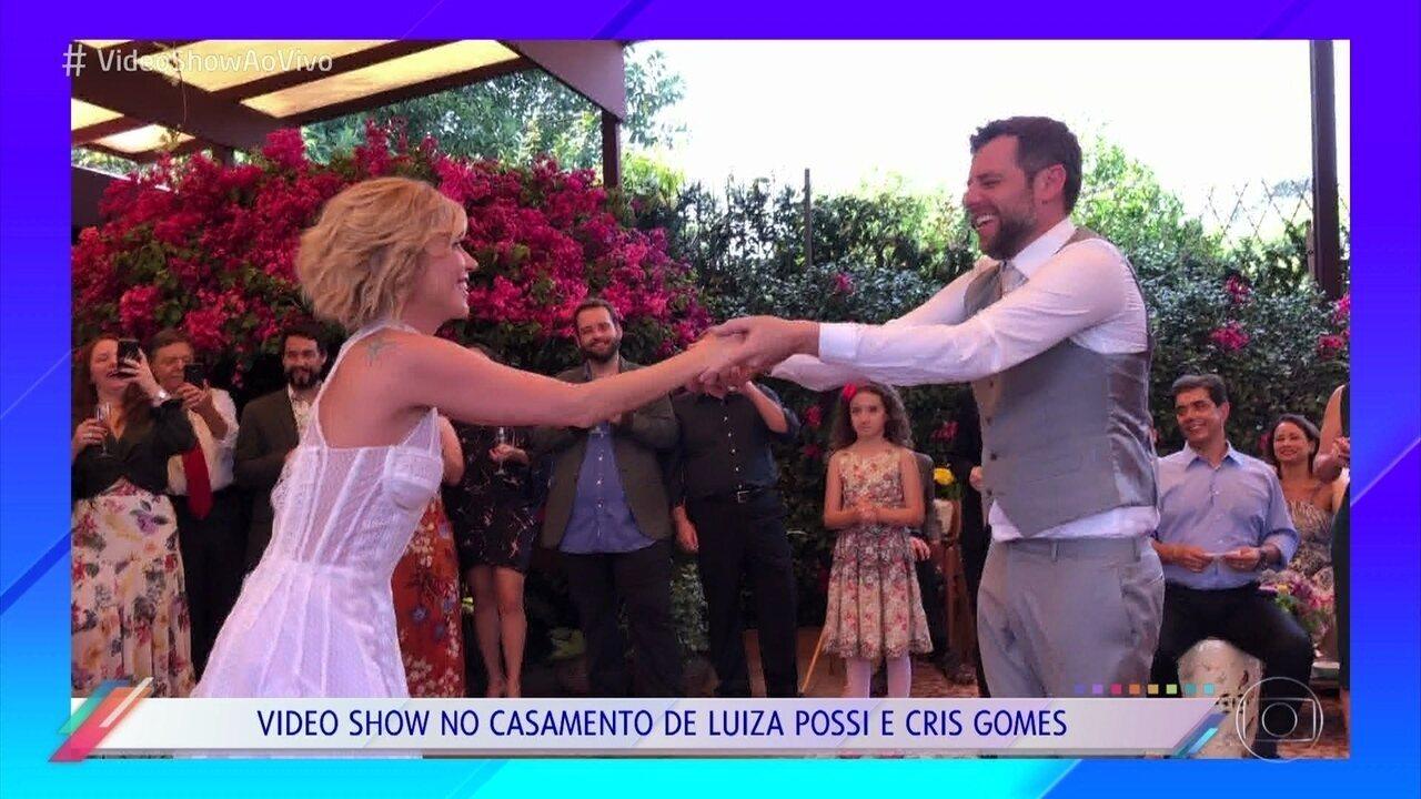 Mônica Salgado mostra rolou no casamento de Luiza Possi e Cris Gomes