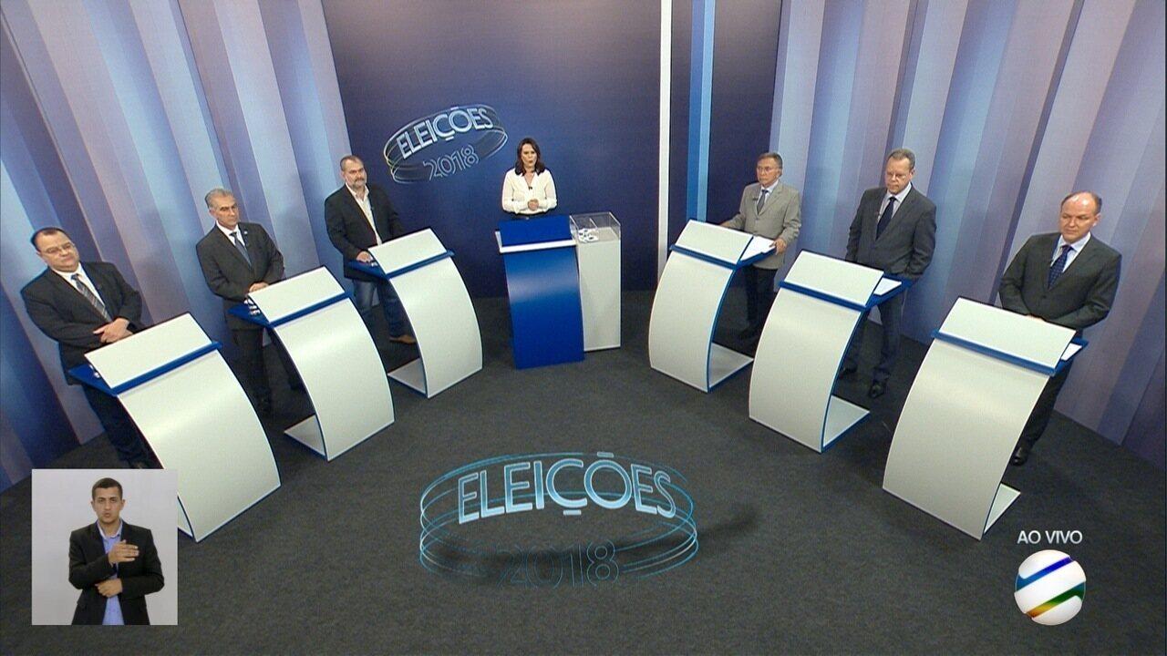 Debate para governador de Mato Grosso do Sul – 1º bloco