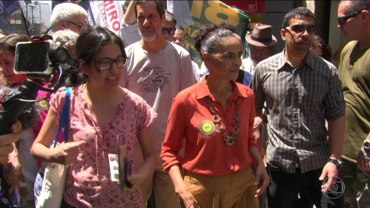 Candidato da Rede, Marina Silva, faz campanha no Rio de Janeiro
