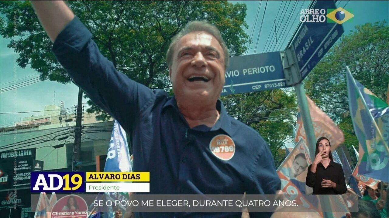 Veja último horário eleitoral do candidato Alvaro Dias