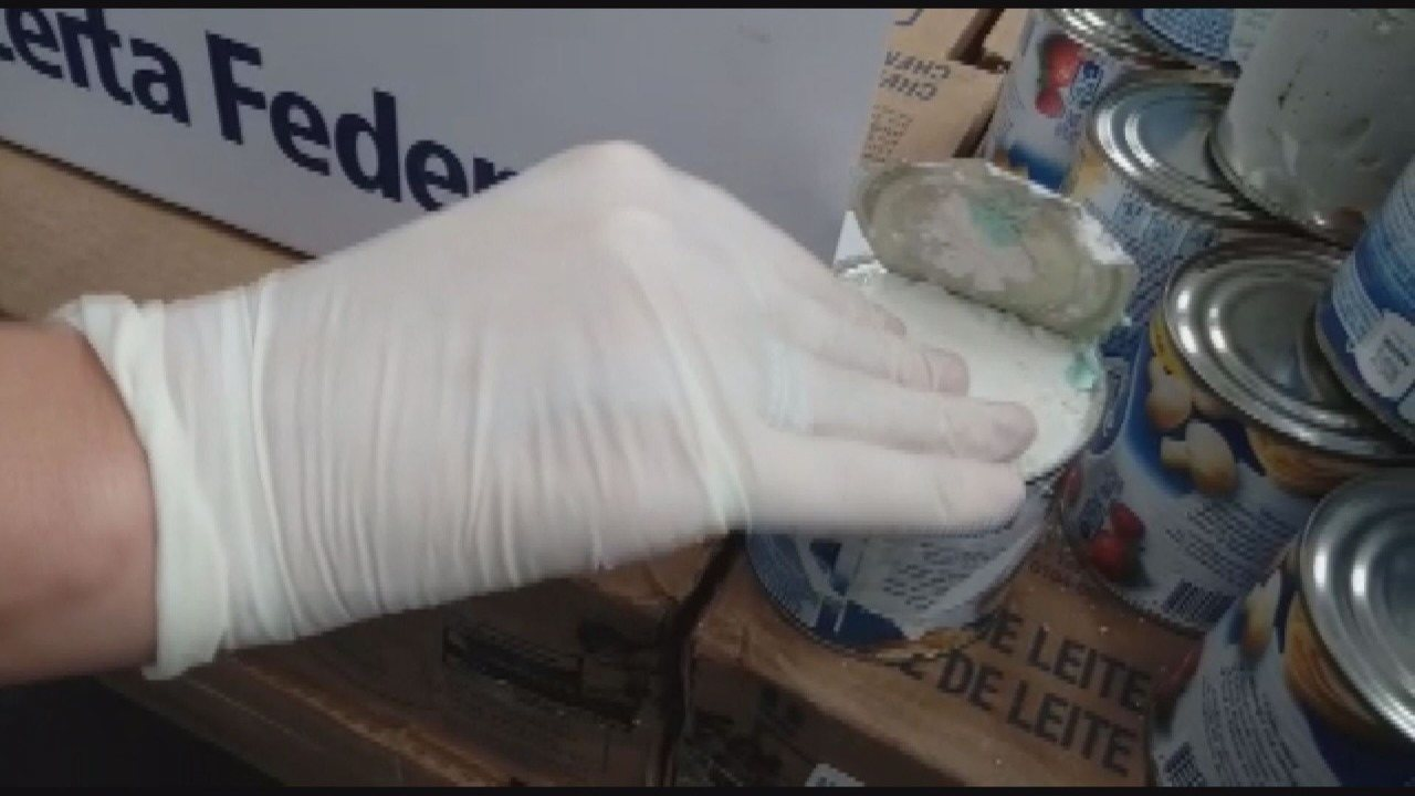 Receita Federal apreende 12kg de cocaína em latas de creme de leite em Viracopos