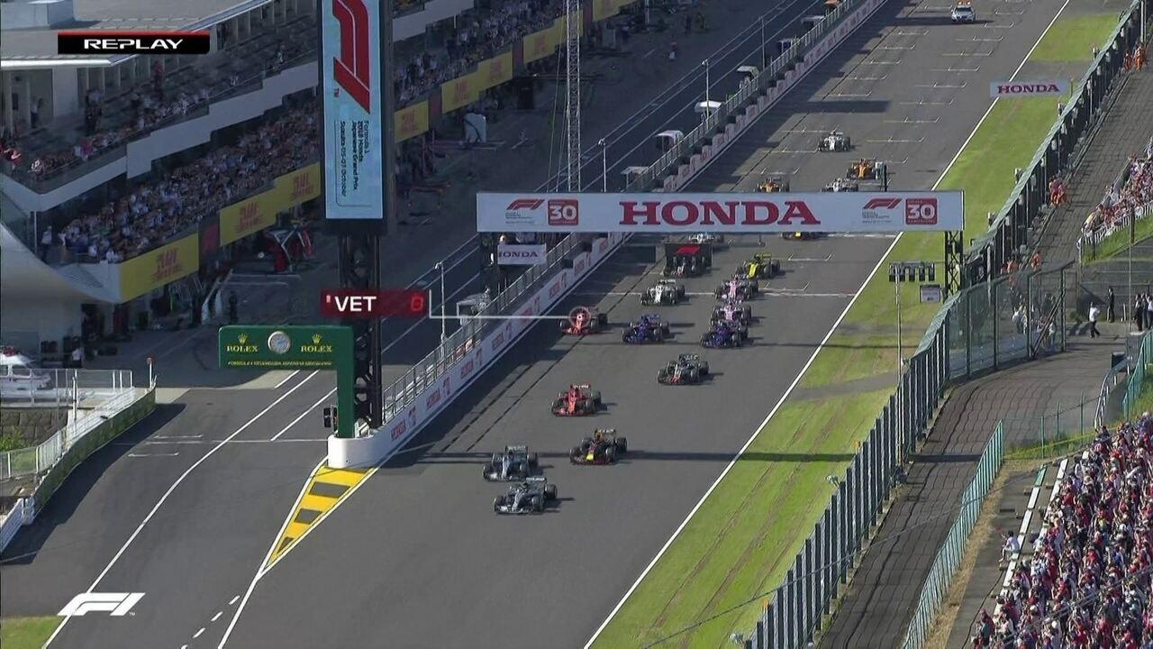 Confira o replay da largada do GP do Japão