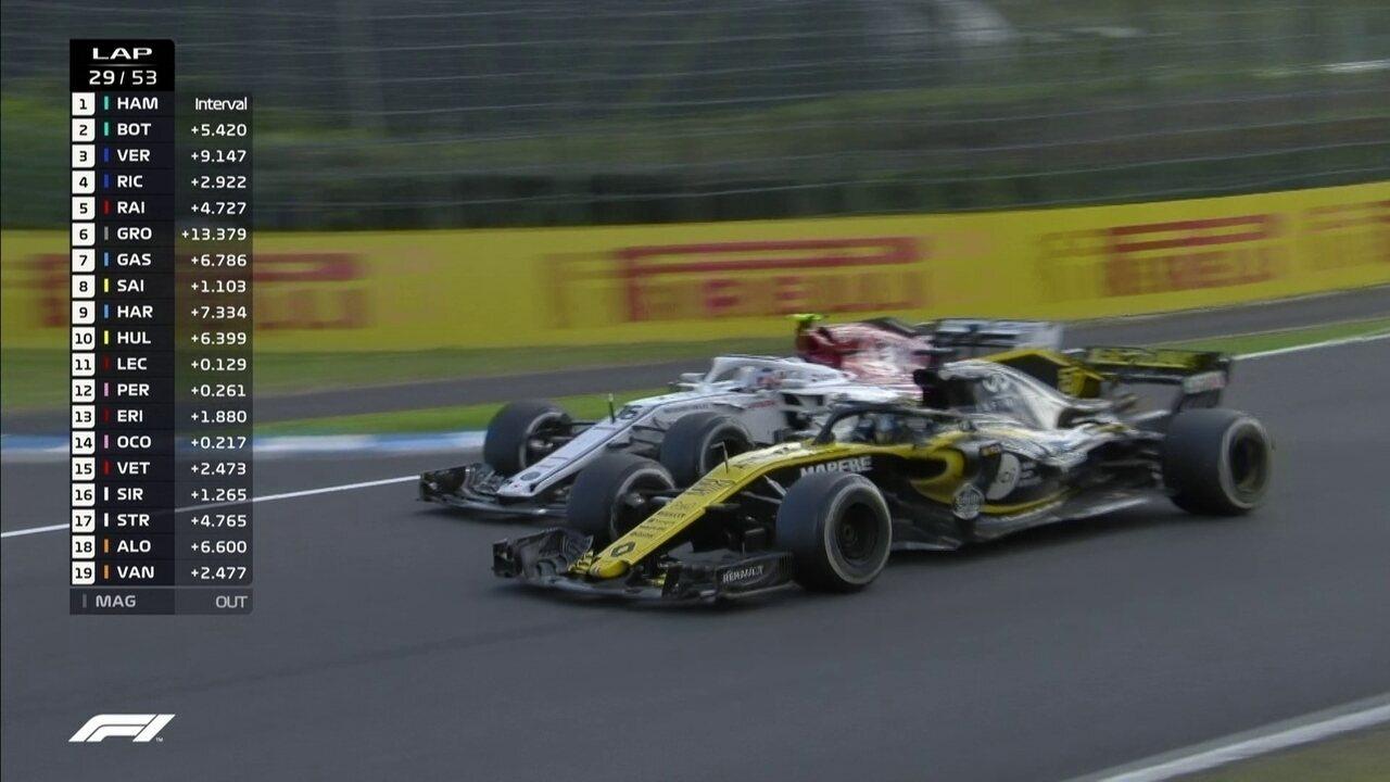 Leclerc ultrapassa Hulkenberg