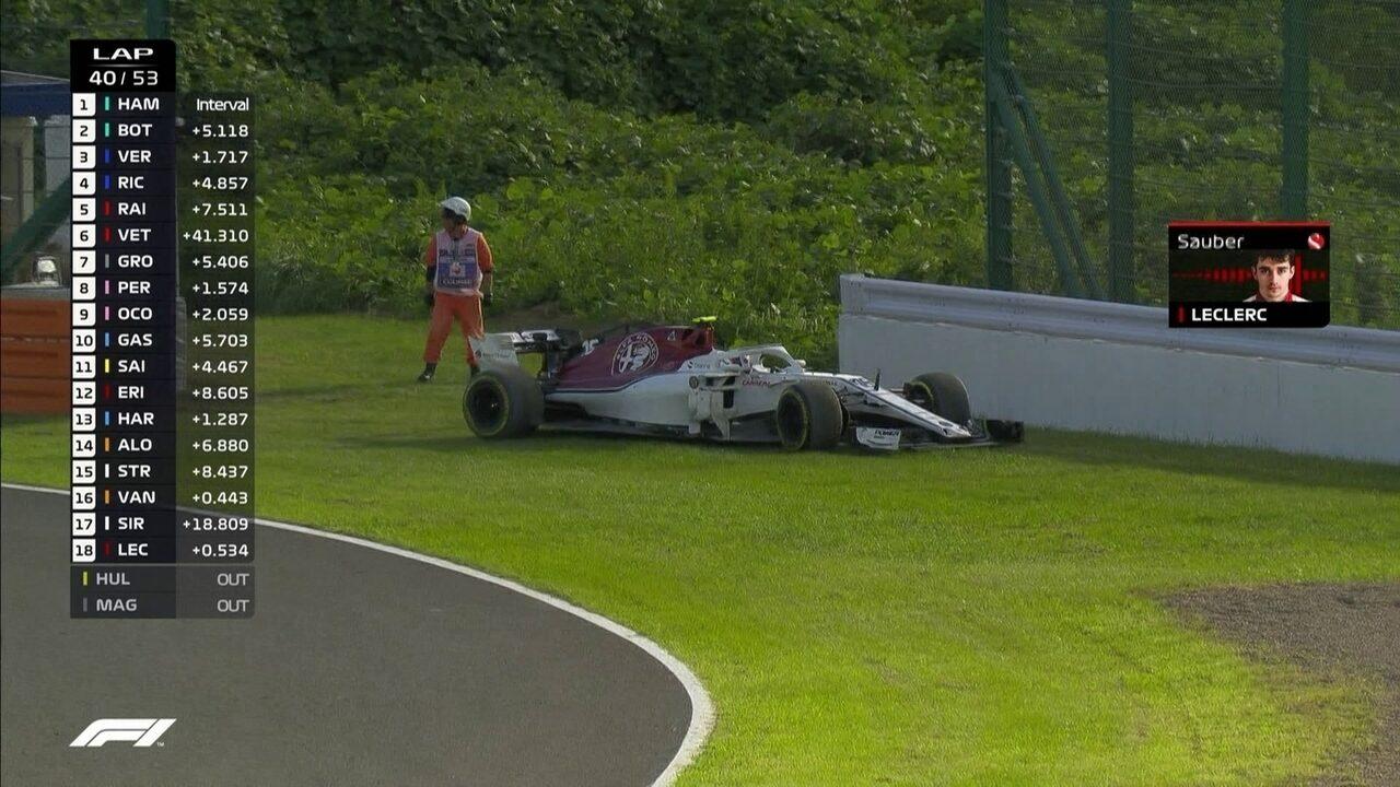Leclerc abandona o GP do Japão