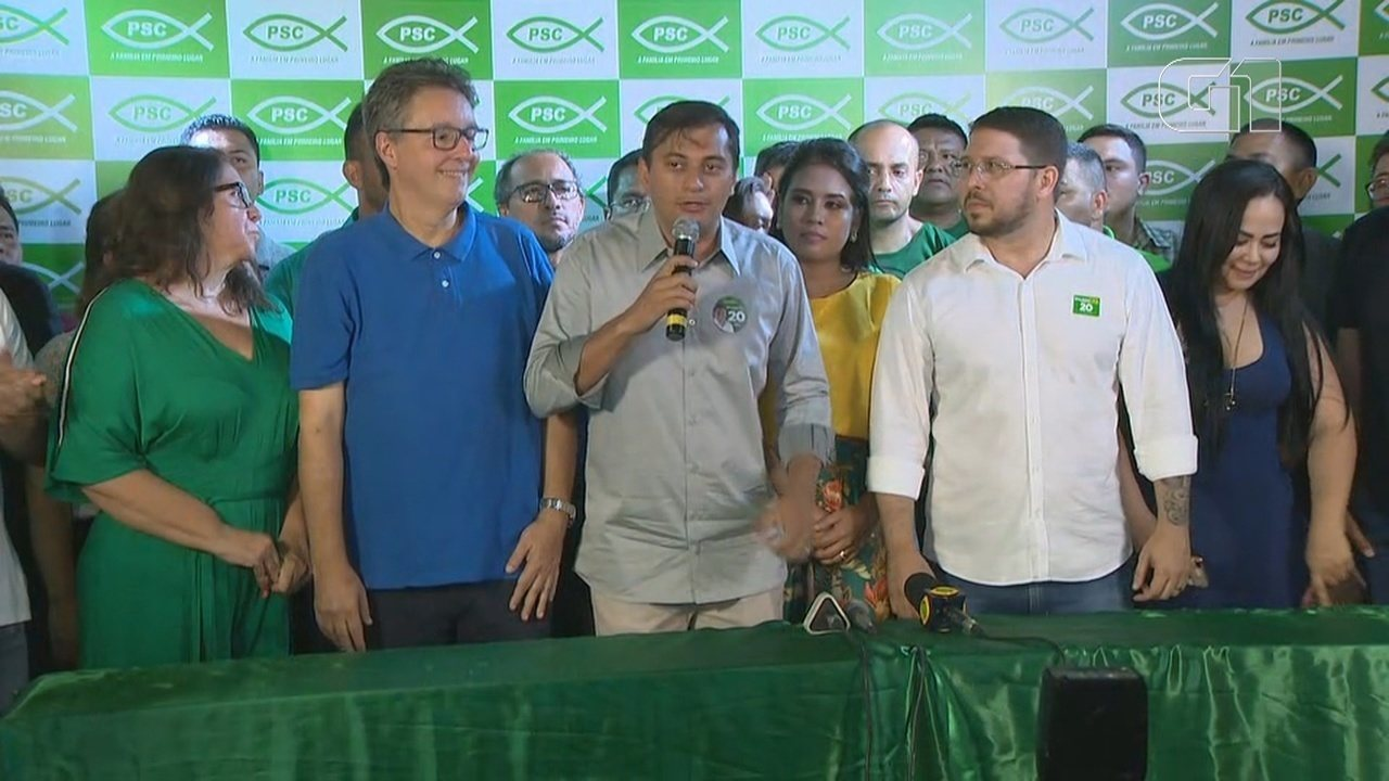 Candidato ao governo pelo PSC, Wilson Lima participa de coletiva de imprensa