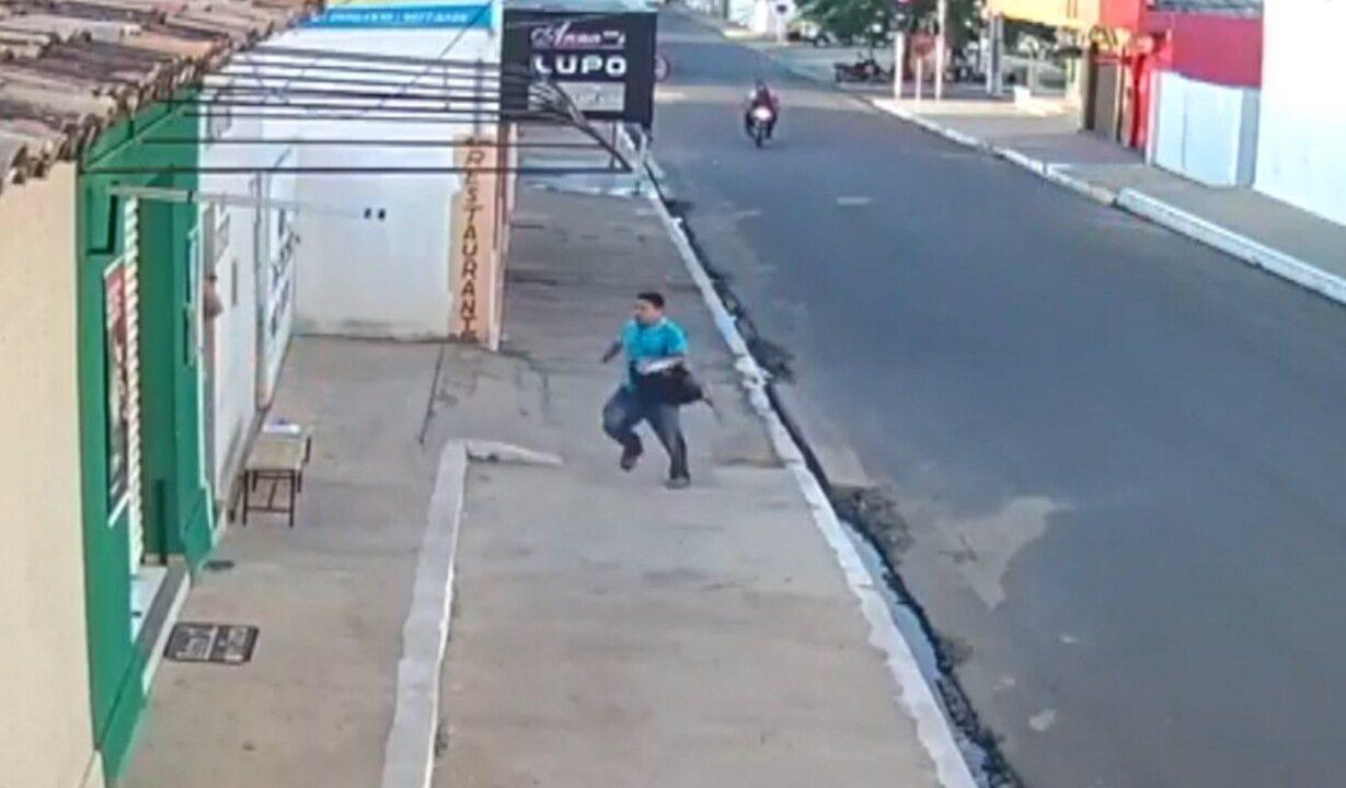 Gerente de casa lotérica é perseguido por assaltantes no Piauí