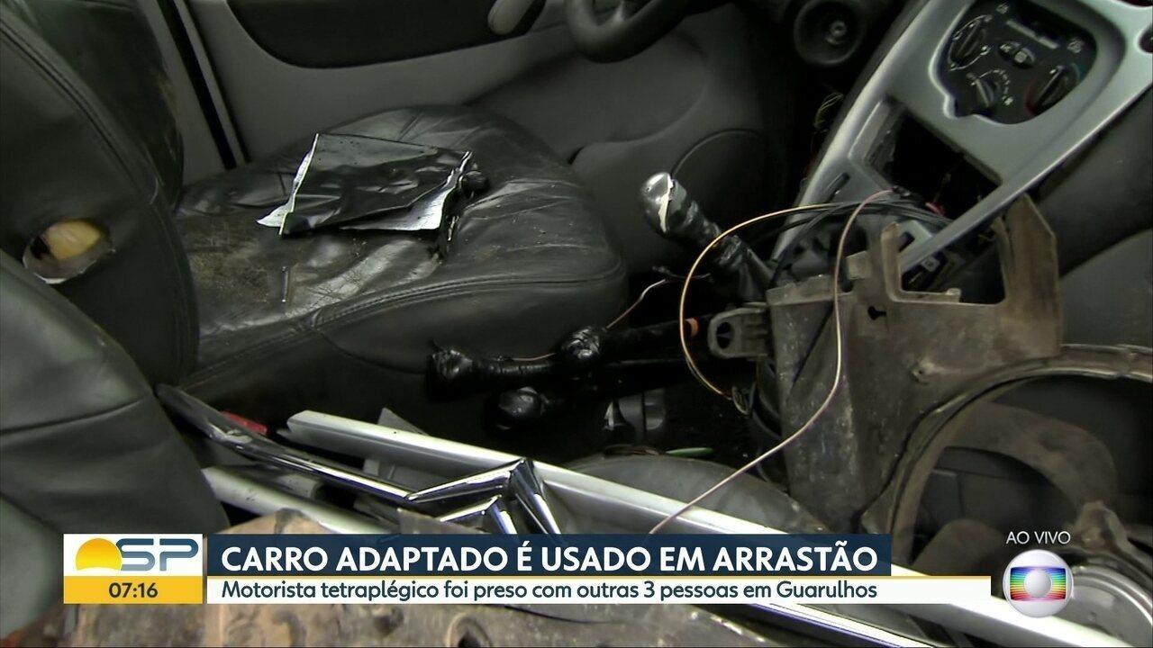 Bandidos usam carro adaptado e morotista paraplégico em arrastão