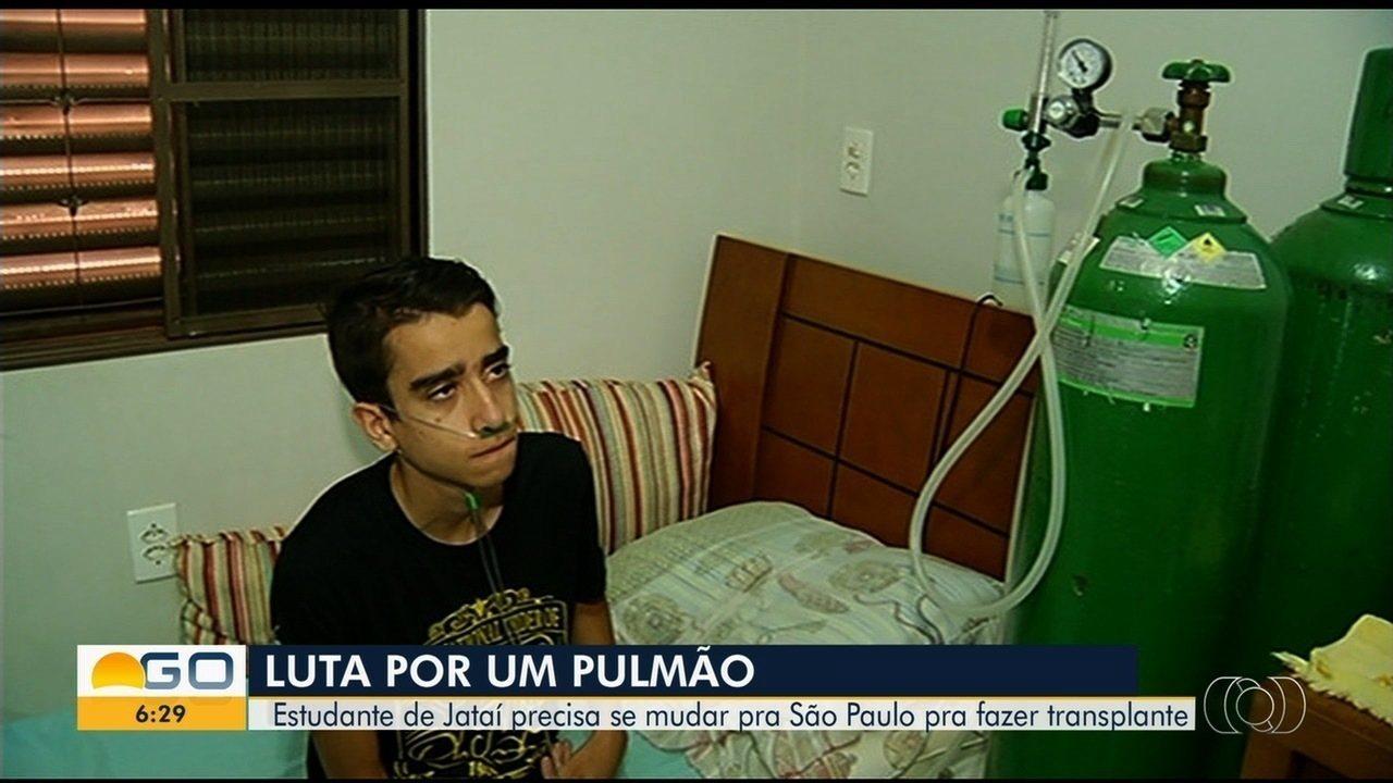 Jovem de Goiás com fibrose cística precisa de transplante de pulmões que só é feito em SP