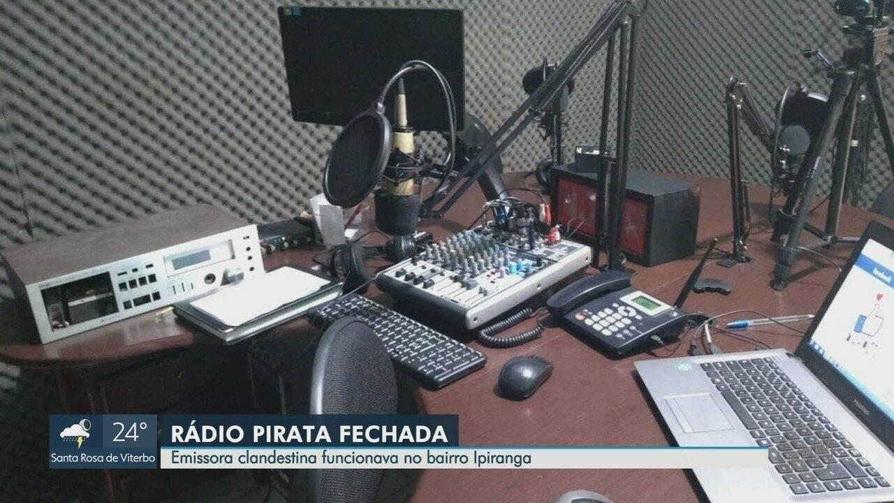 Polícia Federal fecha rádio pirata e prende suspeito na zona norte de Ribeirão Preto, SP