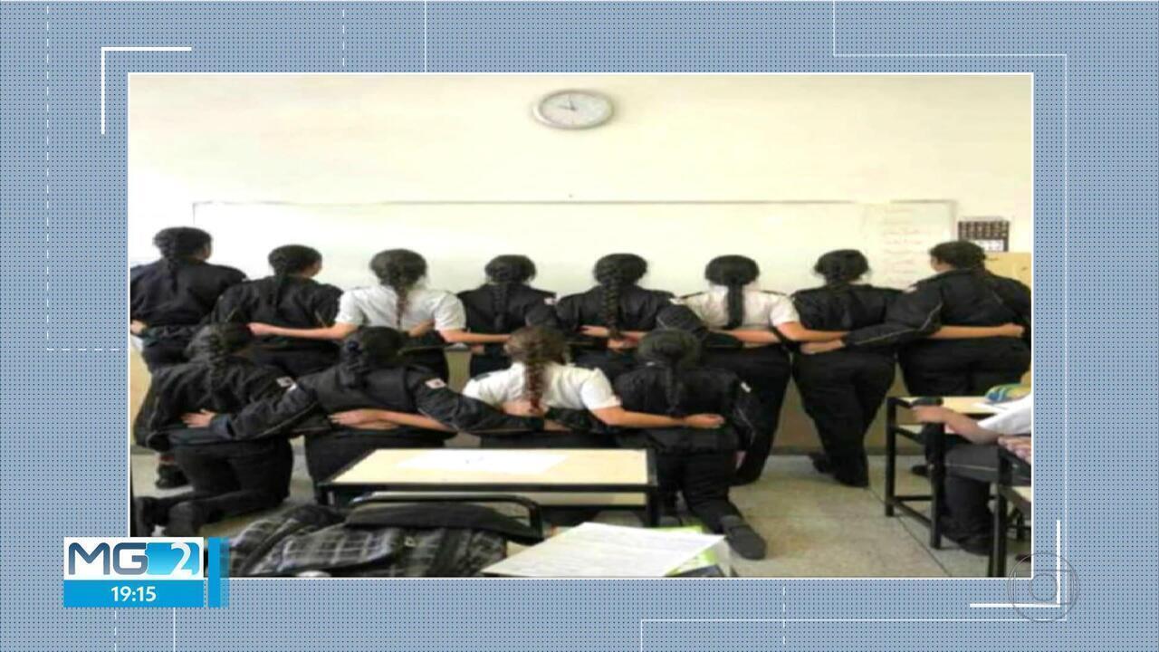 Orientação sobre uso tranças afro gera protesto de alunas em colégio da PM em BH