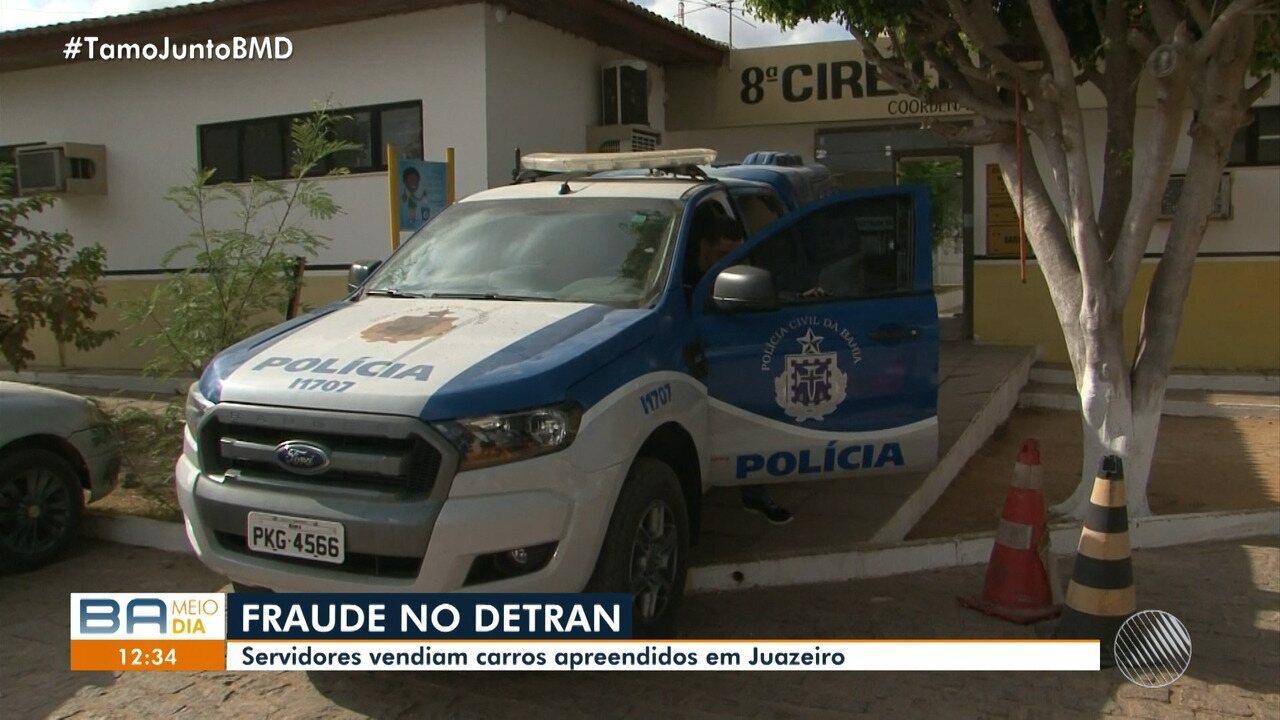 Servidores do Detran são suspeitos de vender carros apreendidos em Juazeiro