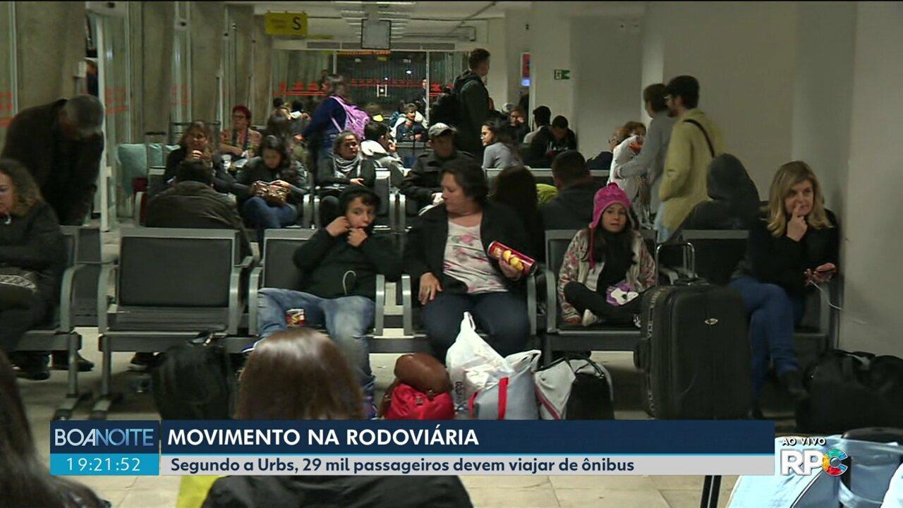 A previsão é de 29 mil passageiros embarcando na rodoviária de Curitiba nesse feriado