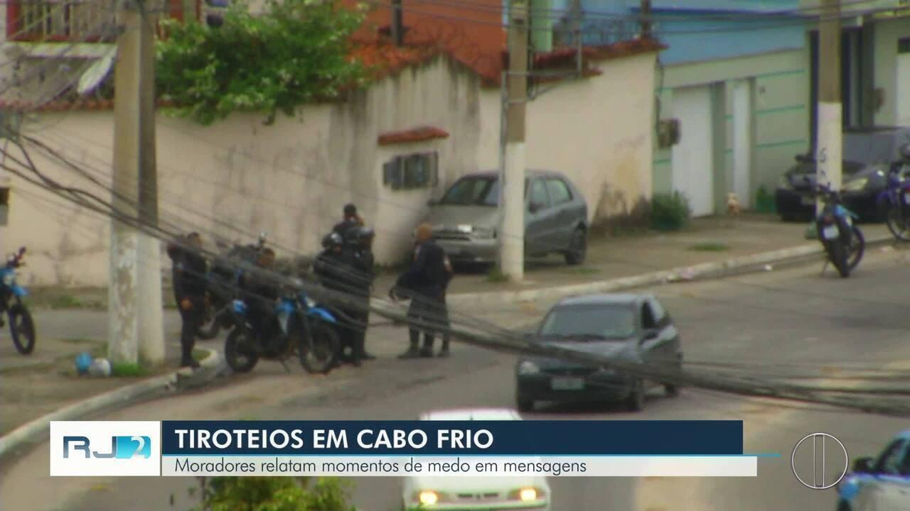 Tiroteio assusta moradores de Cabo Frio, RJ, e deixa população sem ônibus