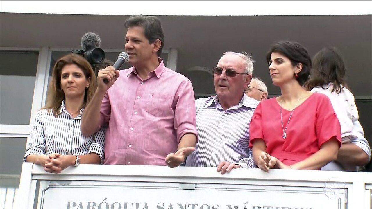 Fernando Haddad faz campanha em São Paulo