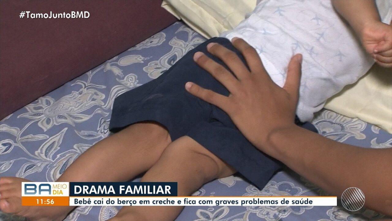 Drama: família luta por reabilitação de bebê que ficou paralisado após acidente