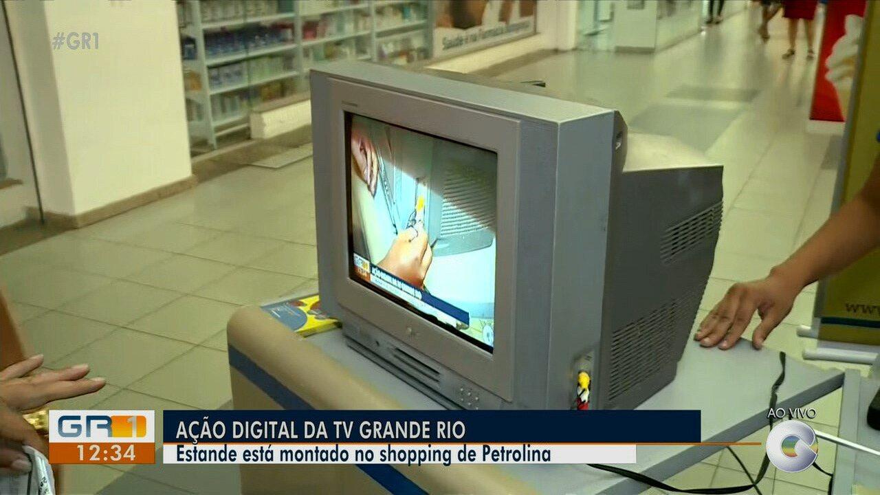 Estante no shopping de Petrolina tira dúvidas da população sobre sinal digital