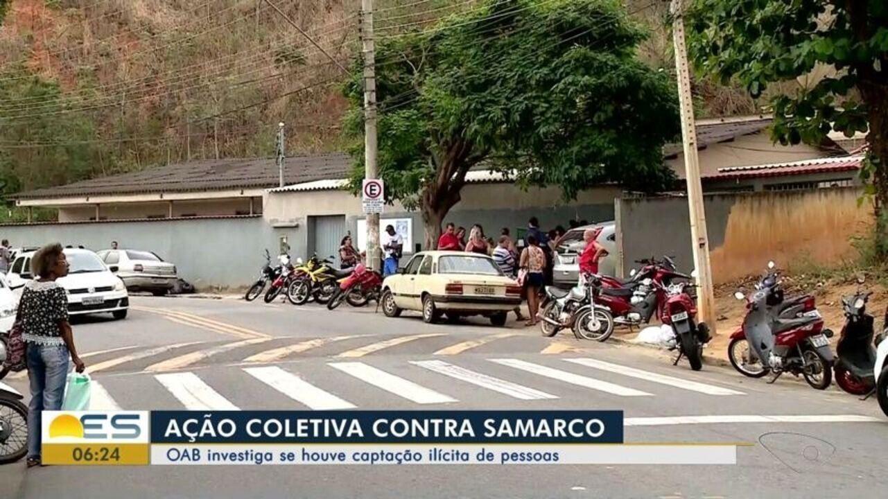 Prejudicados pela lama da Samarco tentam entrar com ação coletiva contra empresa, no ES