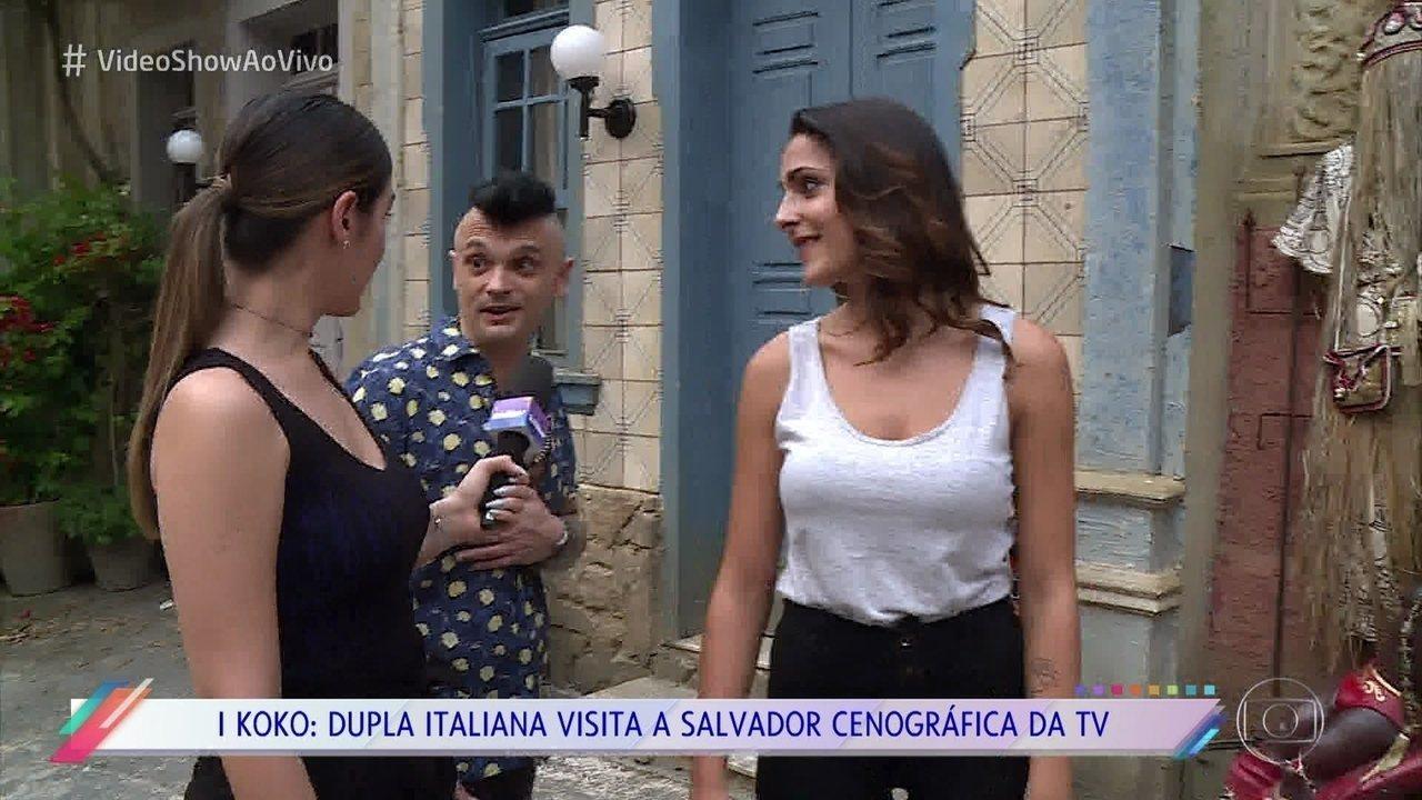 I Koko visita a Salvador cenográfica de 'Segundo Sol' e ganha recado de Daniela Mercury