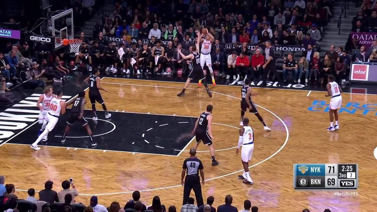 Melhores momentos: Brooklyn Nets 107 x 105 New York Knicks pela NBA