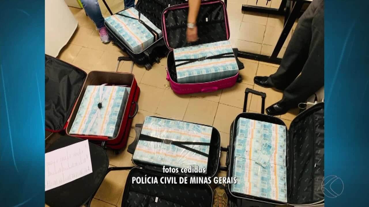 Polícia Civil acha cerca de R$ 15 milhões em carros que estavam com policiais de SP em MG