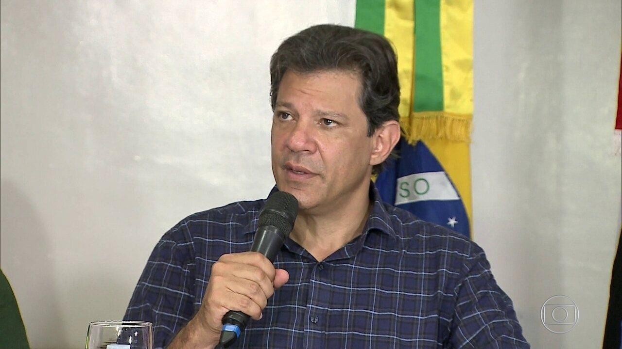 Fernando Haddad, candidato do PT à Presidência, faz campanha no Maranhão