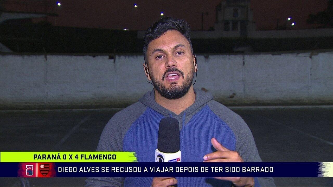 Diego Alves é barrado e pede para não viajar com delegação do Flamengo
