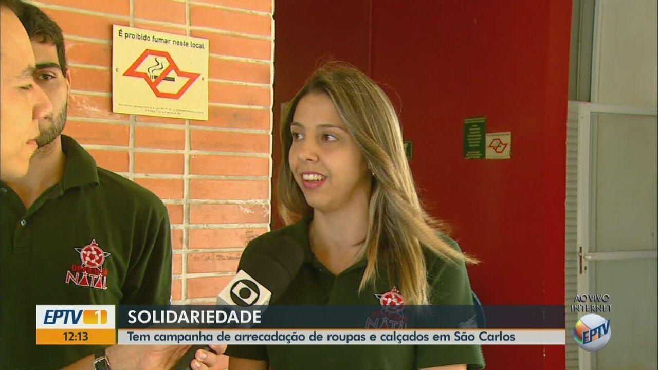 Alunos da USP e da UFSCar fazem campanha de arrecadação em lojas de São Carlos