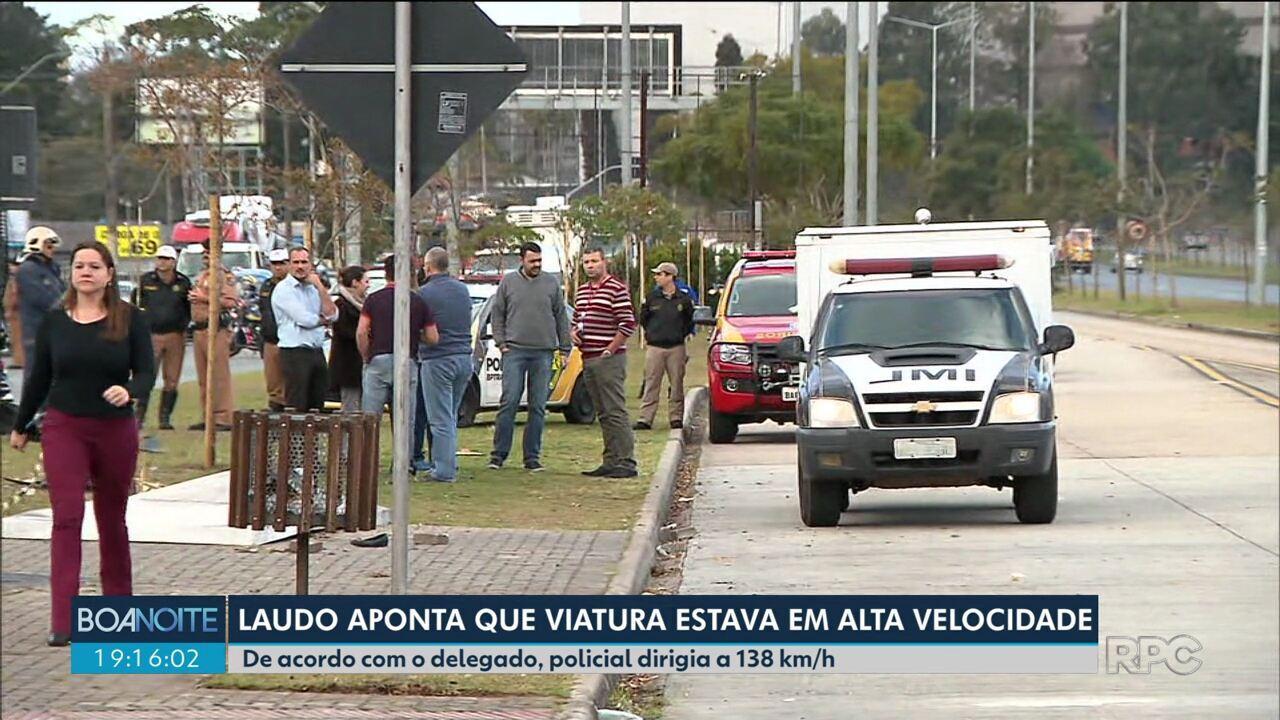 Policial dirigia a quase 140 km/h quando perdeu controle de carro na Linha Verde