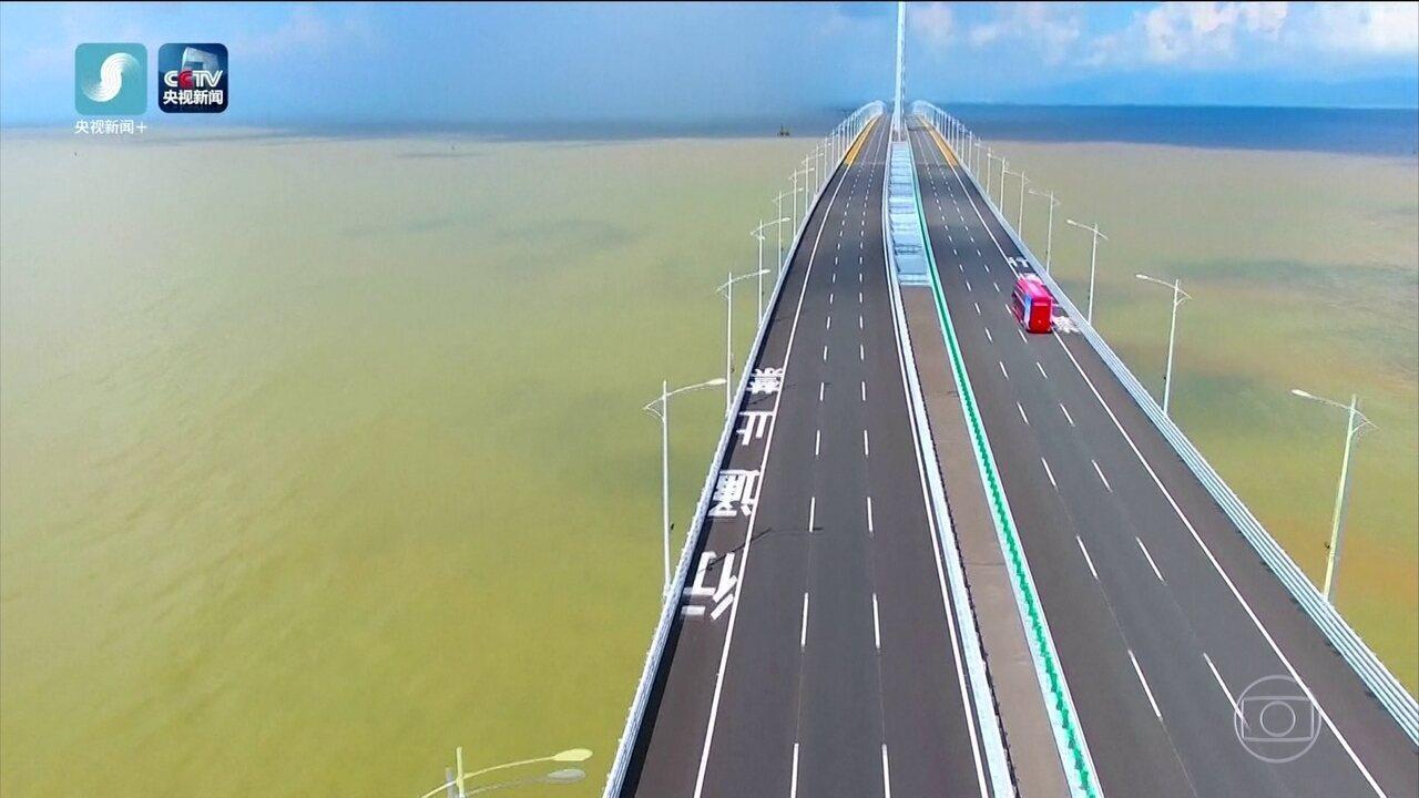 China inaugura a maior ponte marítima do mundo