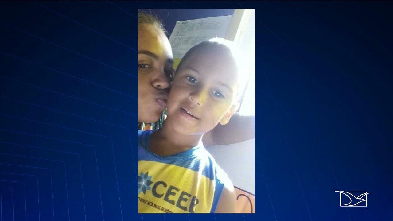 Jhoniel Ribeiro Rodrigues, de 7 anos, foi morto em tiroteio na cidade de Santa Inês