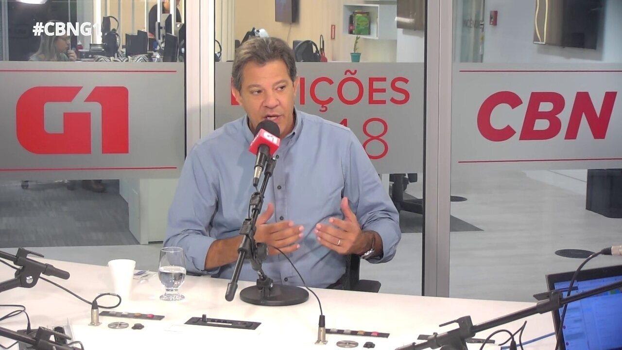 Assista à íntegra da entrevista de Fernando Haddad ao G1 e à CBN